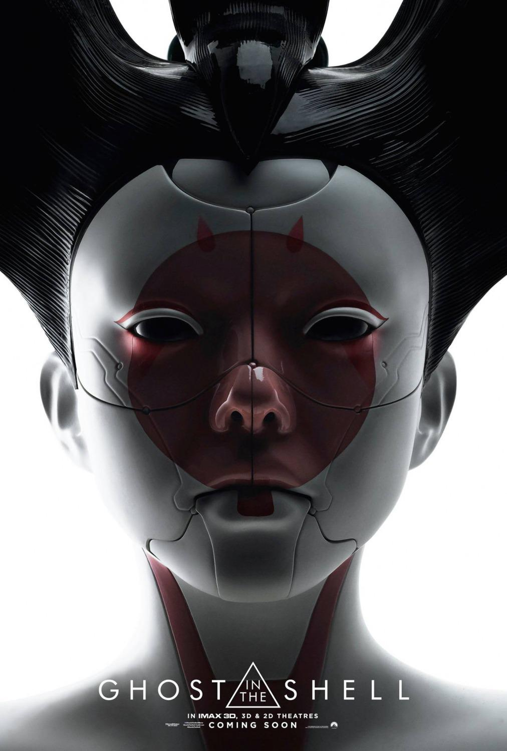 Ghost in the Shell (live action film 2017) poster - geisha