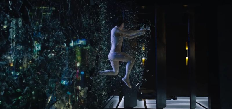 Ghost in the Shell (live action 2017) - Maggiore - Major - attack window