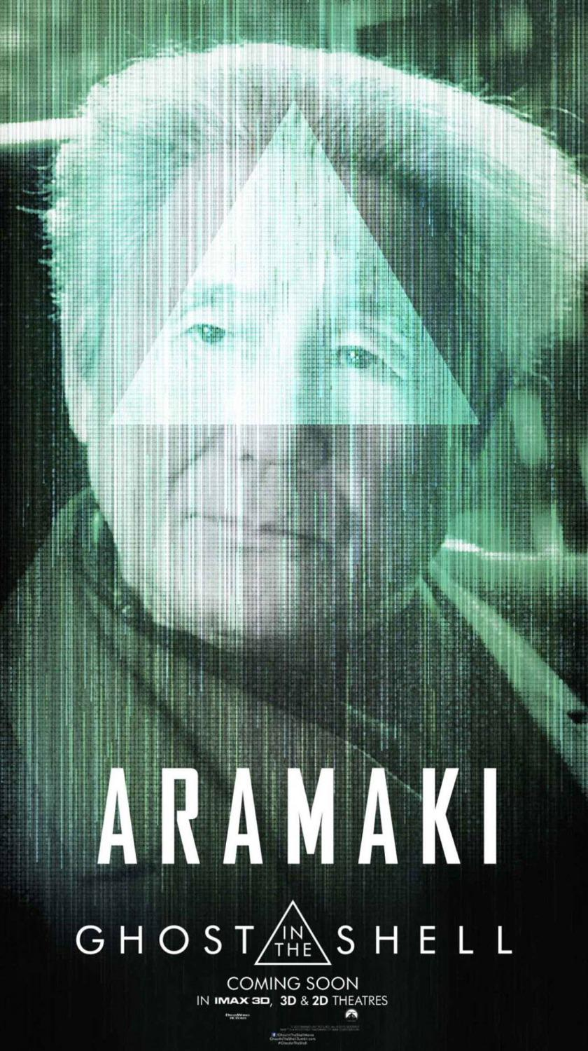 Ghost in the Shell (live action film 2017) poster Aramaki