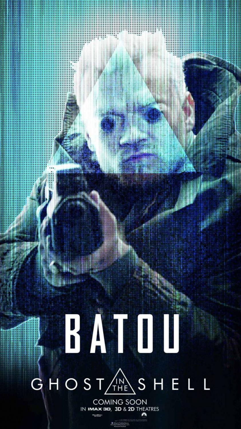 Ghost in the Shell (live action film 2017) poster - Batou