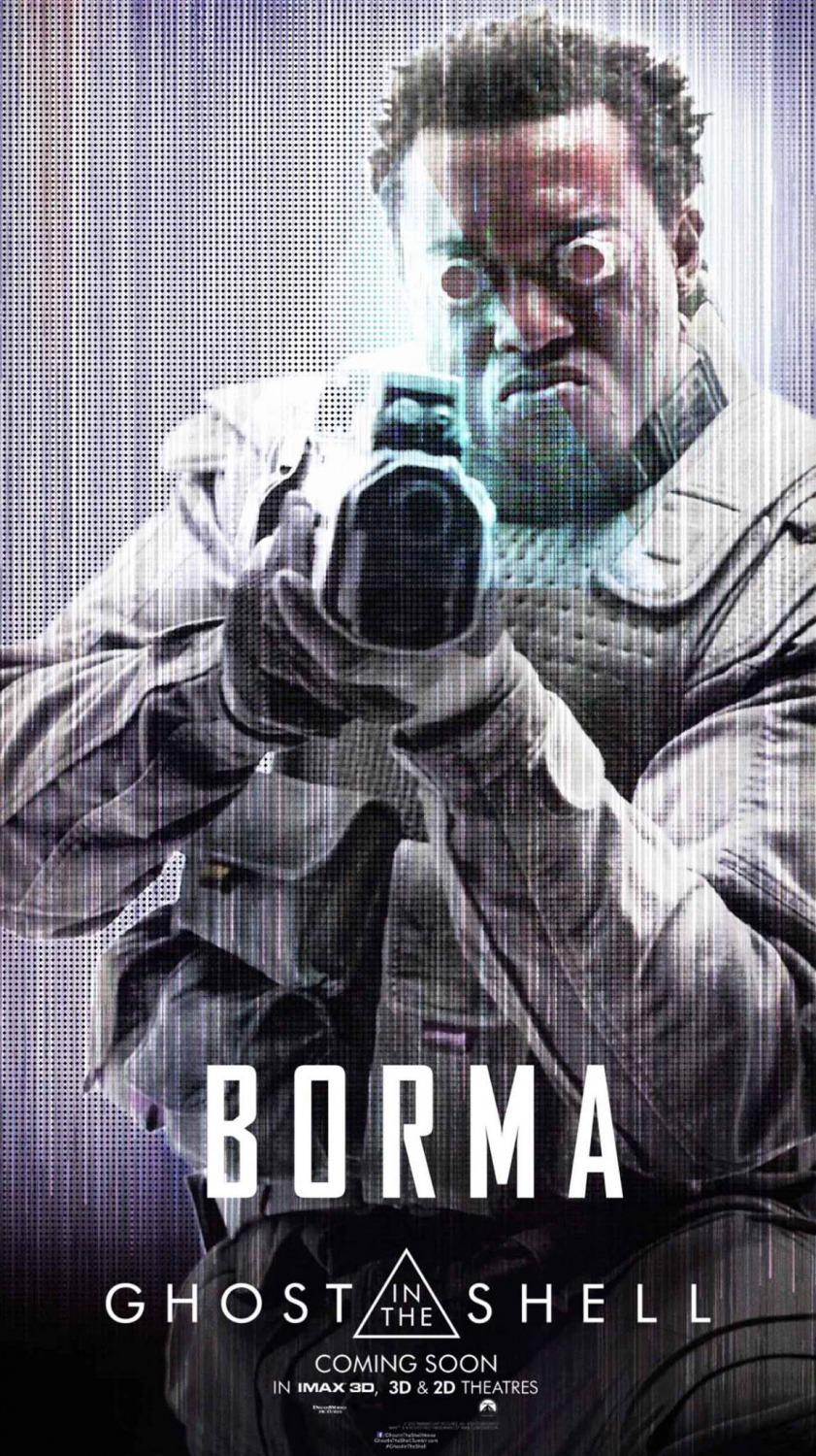 Ghost in the Shell (live action film 2017) poster Borma