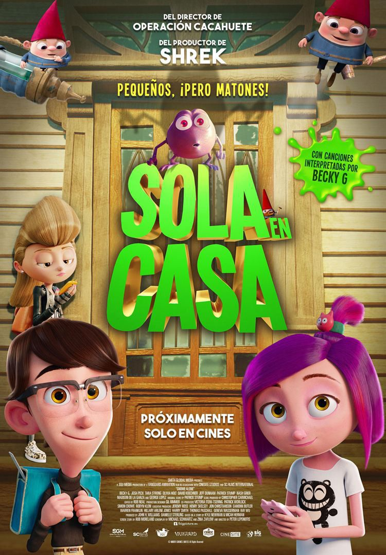 Gnome alone - sola en casa - cartoon - Gnomi