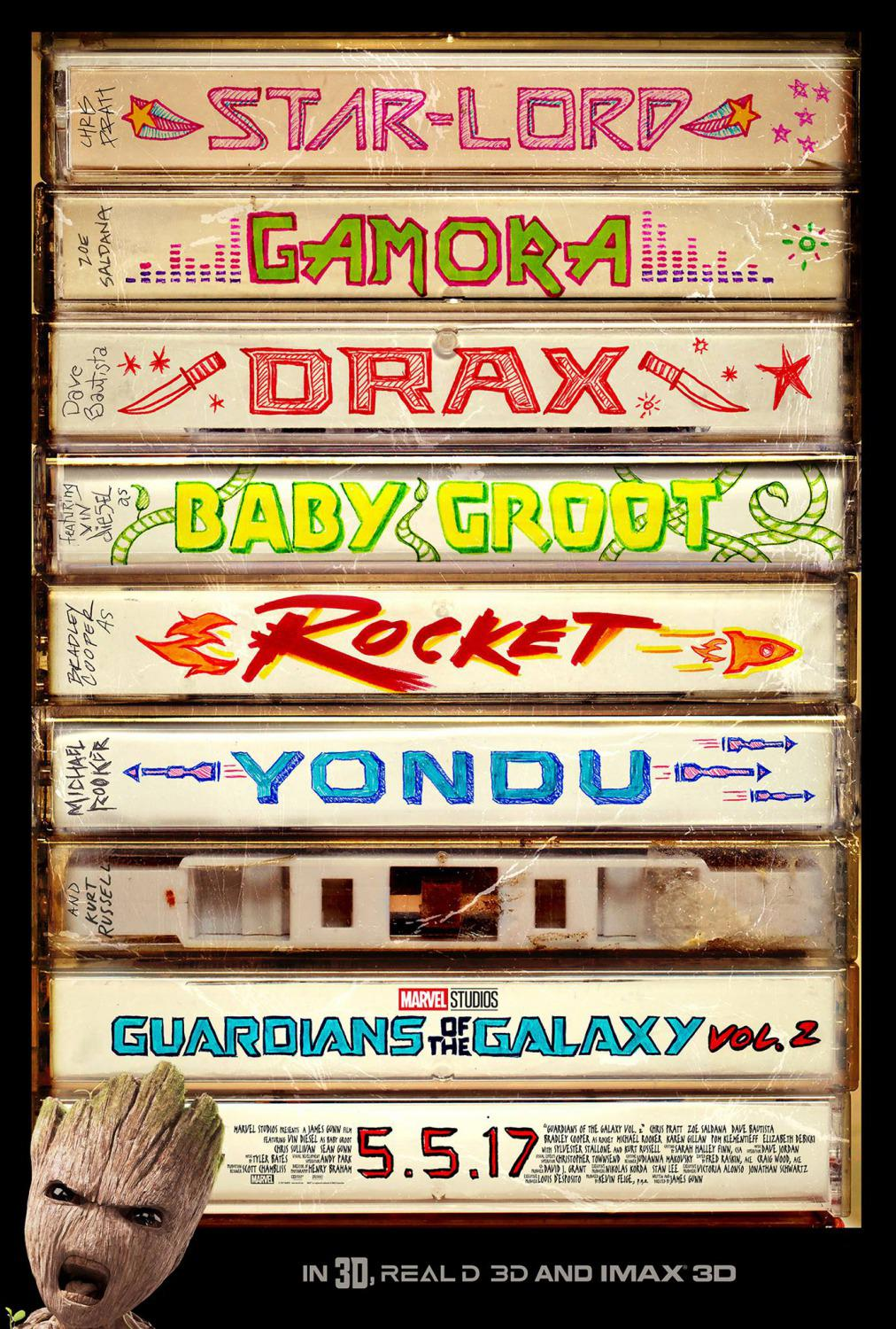 Guardians of the Galaxy vol two - Guardiani della Galassia 2 - Baby Groot tapes