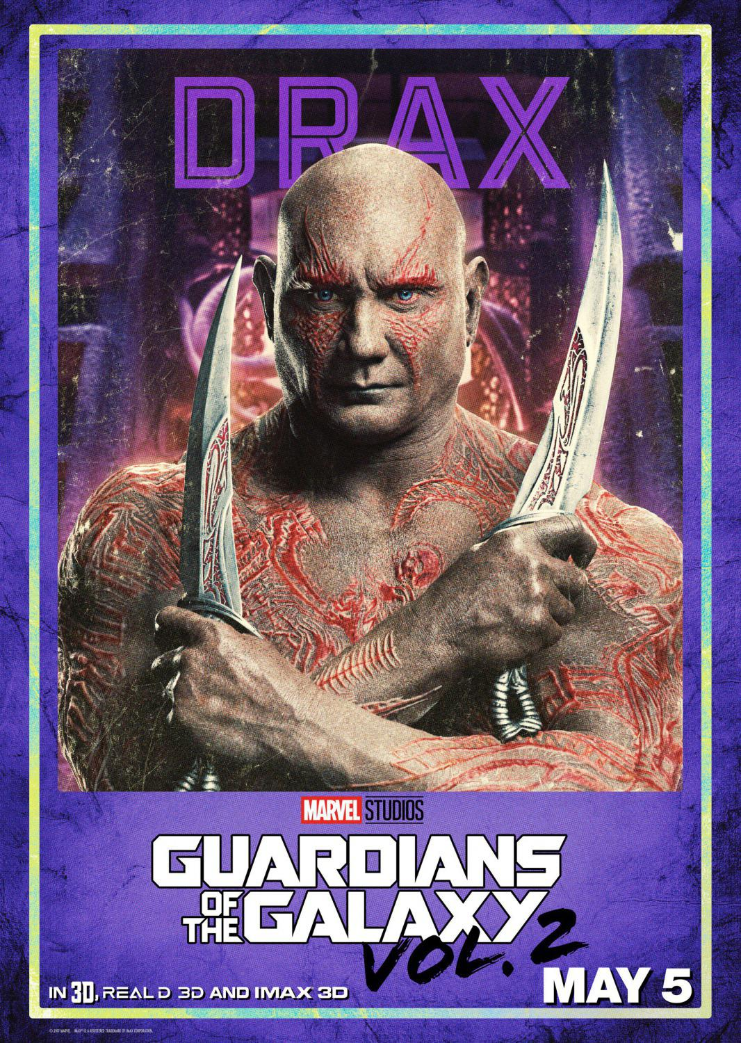 Guardians of the Galaxy vol two - Guardiani della Galassia 2 - Drax