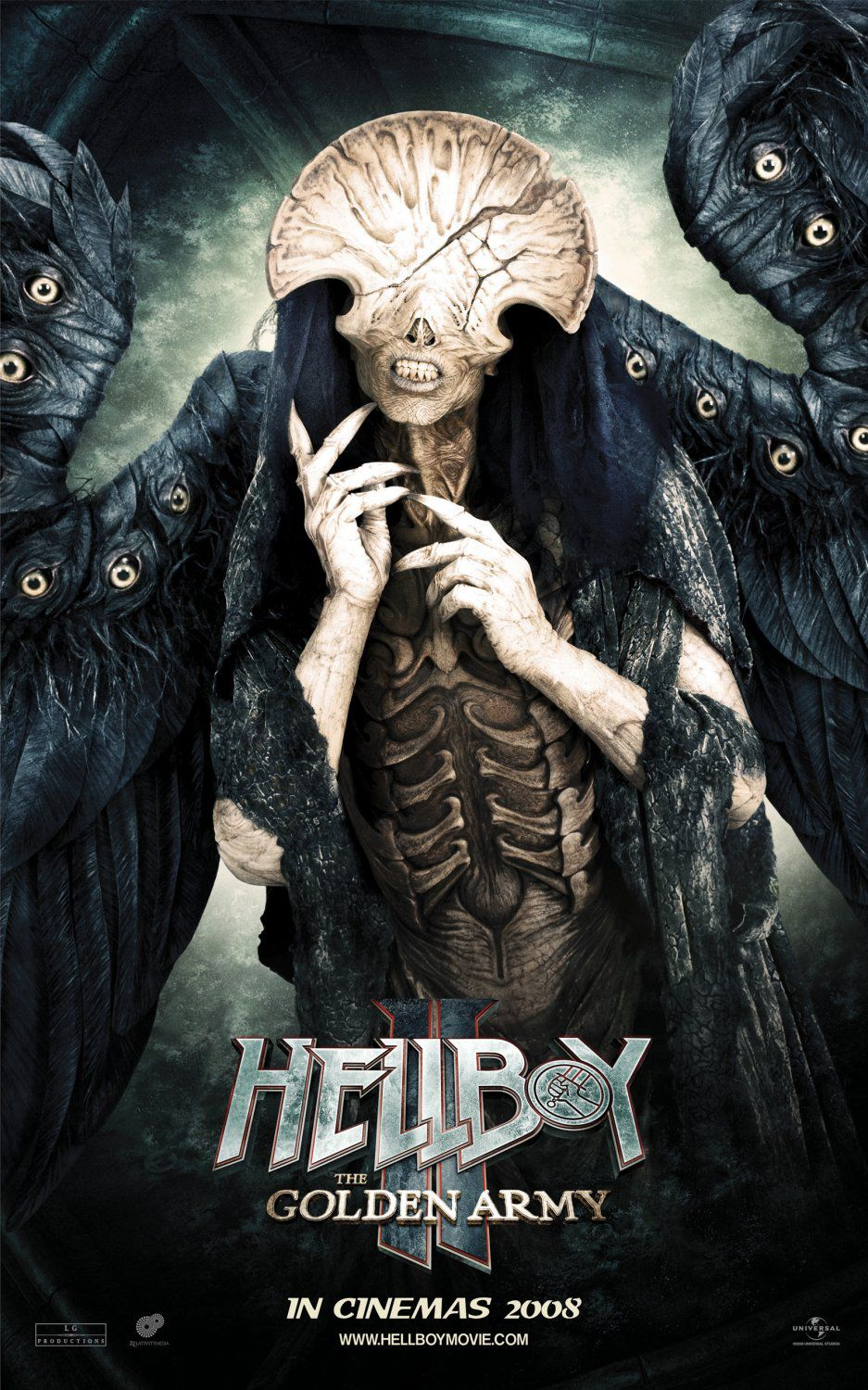 Hellboy 2 - Golden Army - live action film - poster - monster eyes