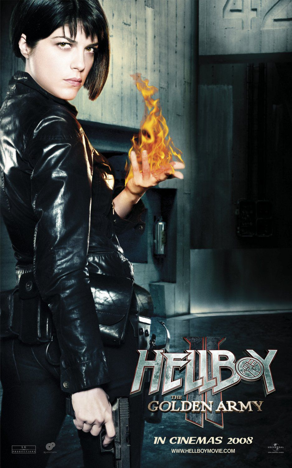 Hellboy 2 - Golden Army - live action film - poster - Liz Sherman