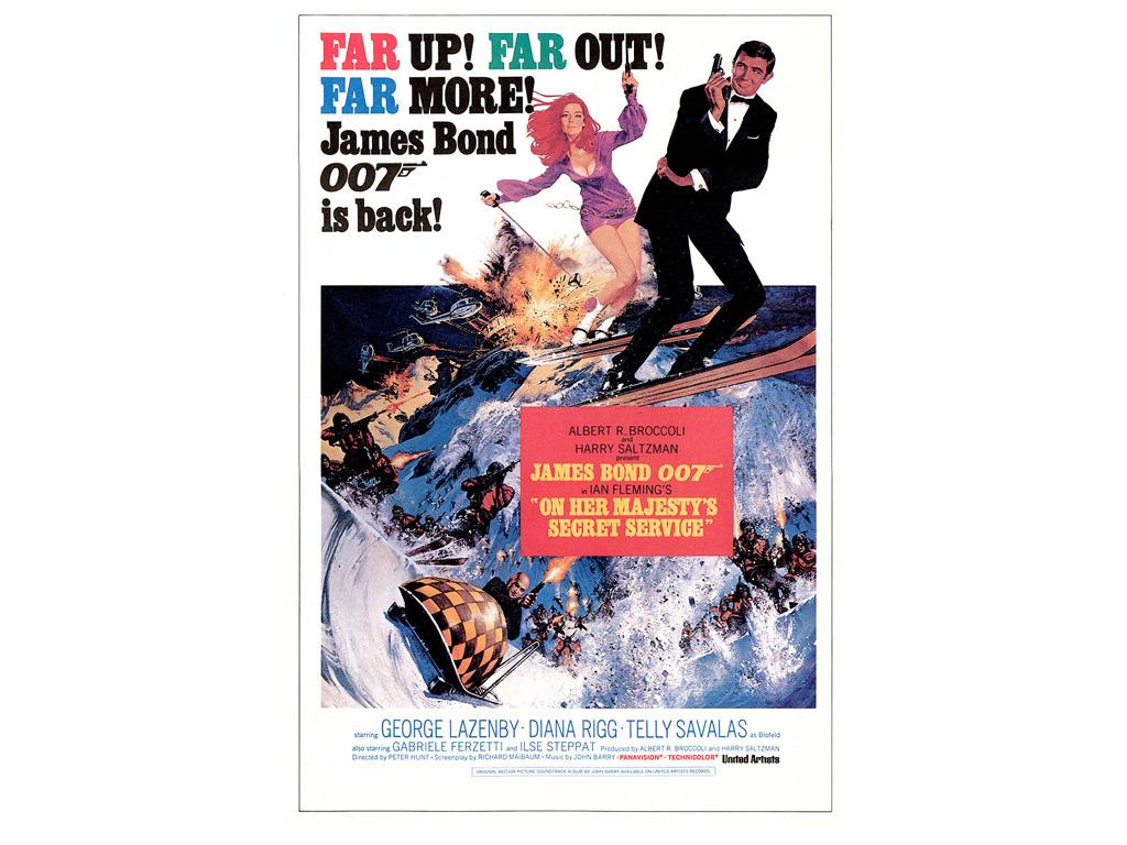 1969 - 007 Al servizio segreto di Sua Maestà - On Her Majesty's secret service - George Lazenby as James Bond