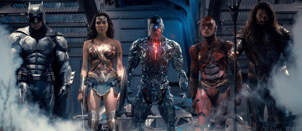 Justice League Acquaman, Superman, Batman, Wonderwoman, Cyborg e Flash