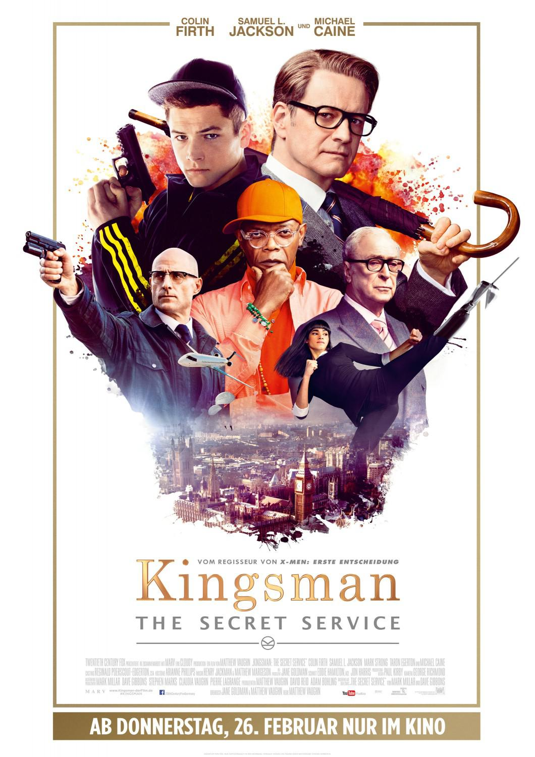 Kingsman 1 - the Secret Service - poster