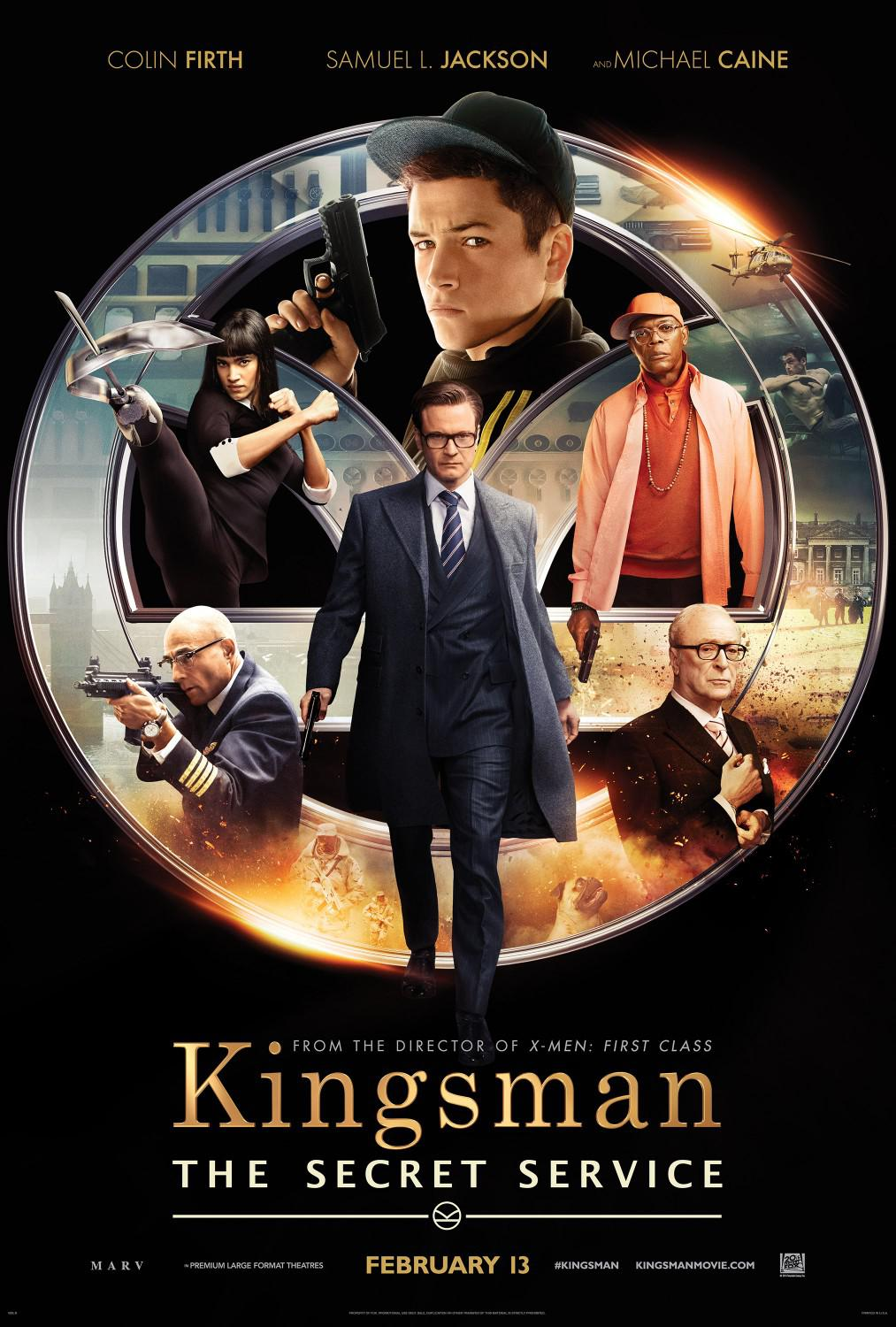 Kingsman 1 - the Secret Service - poster - Colin Firth - Samuel L. Jackson - Michael Caine