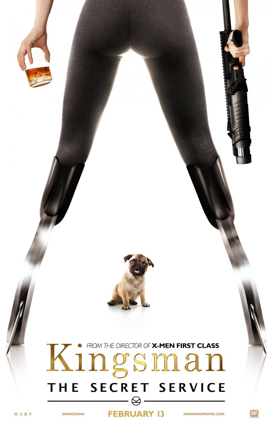 Kingsman 1 - the Secret Service - dog poster