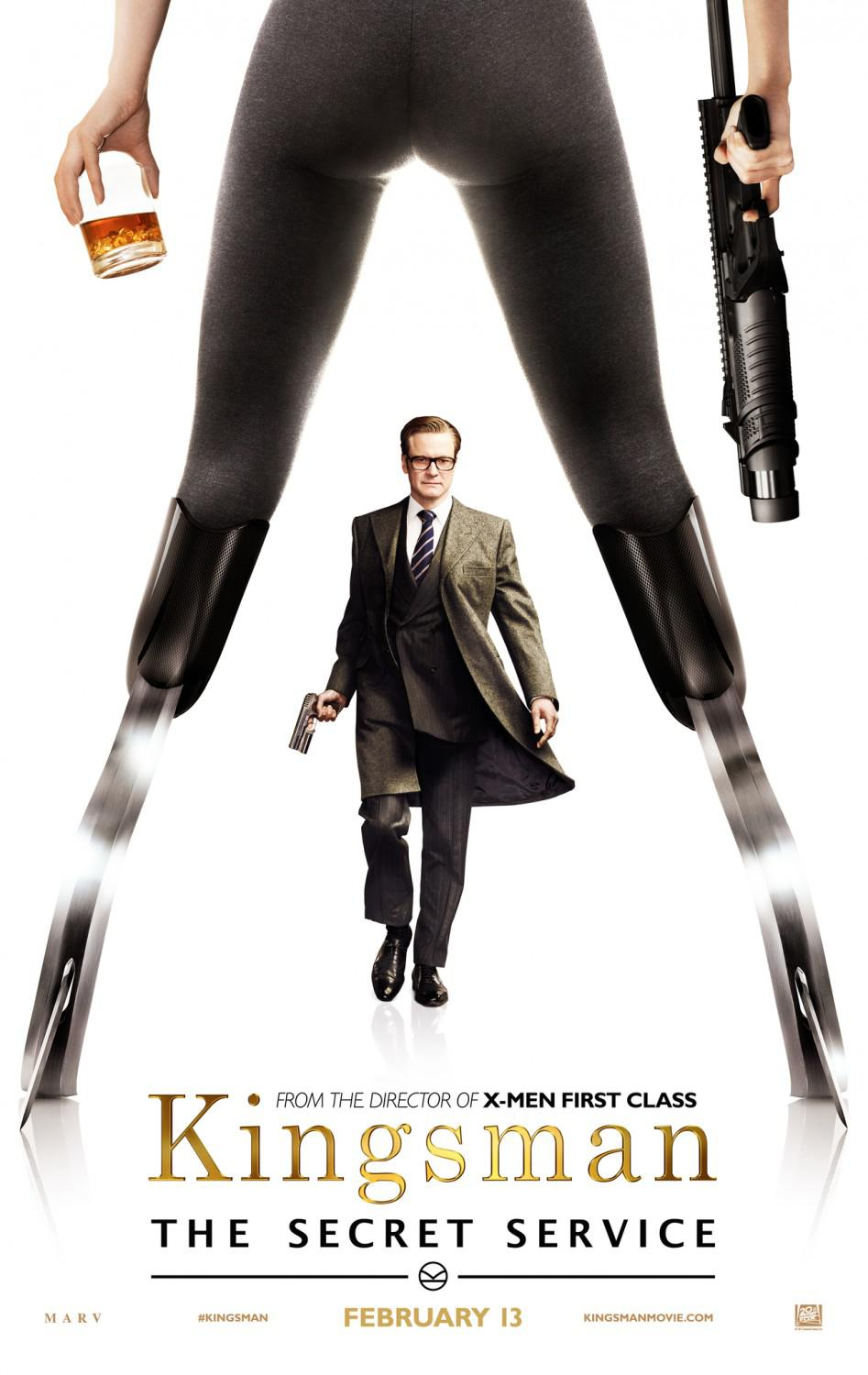 Kingsman 1 - the Secret Service - poster - Colin Firth