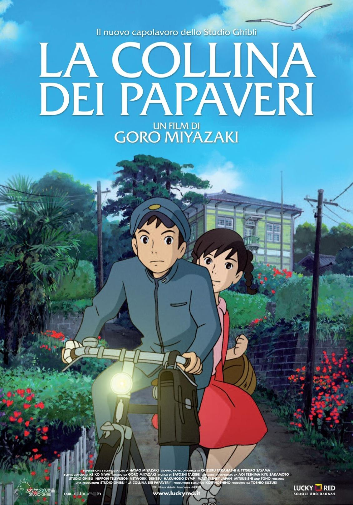 La collina dei papaveri - コクリコ坂から Kokuriko-zaka kara - From Up on Poppy Hill ... un Film di Gorō Miyazaki ...