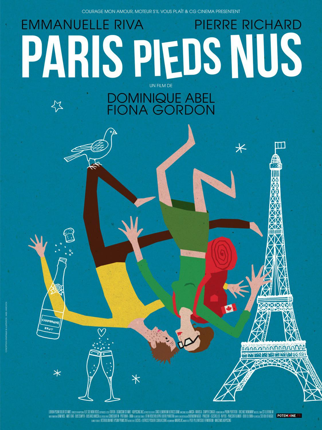 Lost in Paris - Paris Pieds Nus - Fiona Gordon - Dominique Abel - Emanuelle Riva - Pierre Richard - film poster 2017