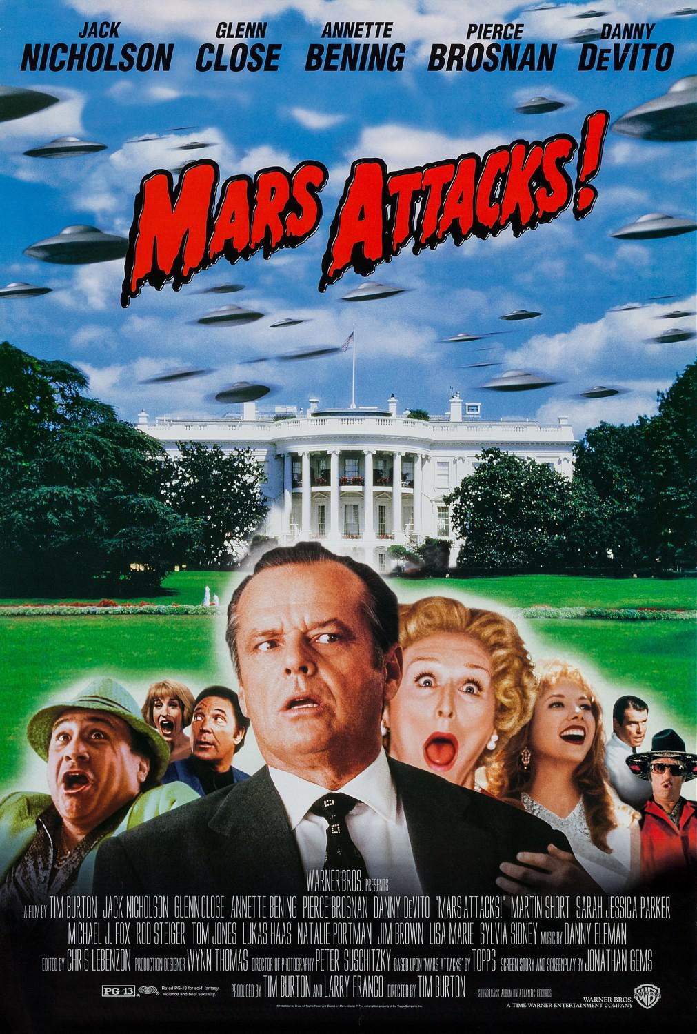 Mars Attacks - film poster - Jack Nicholson