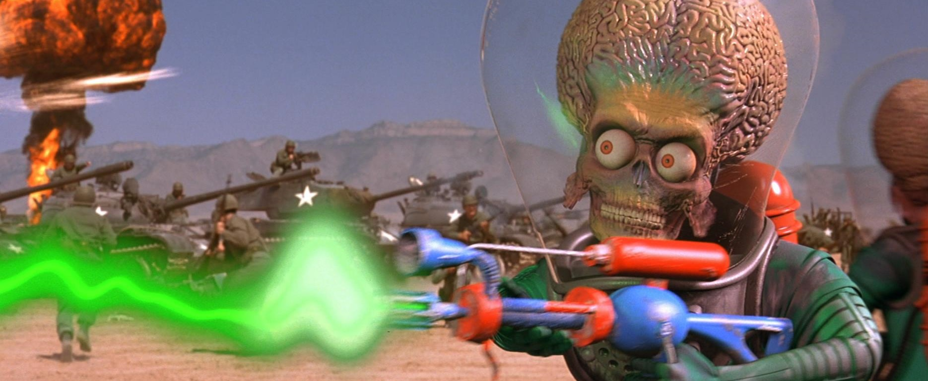 Mars Attacks - film scene - alien weapon energy laser