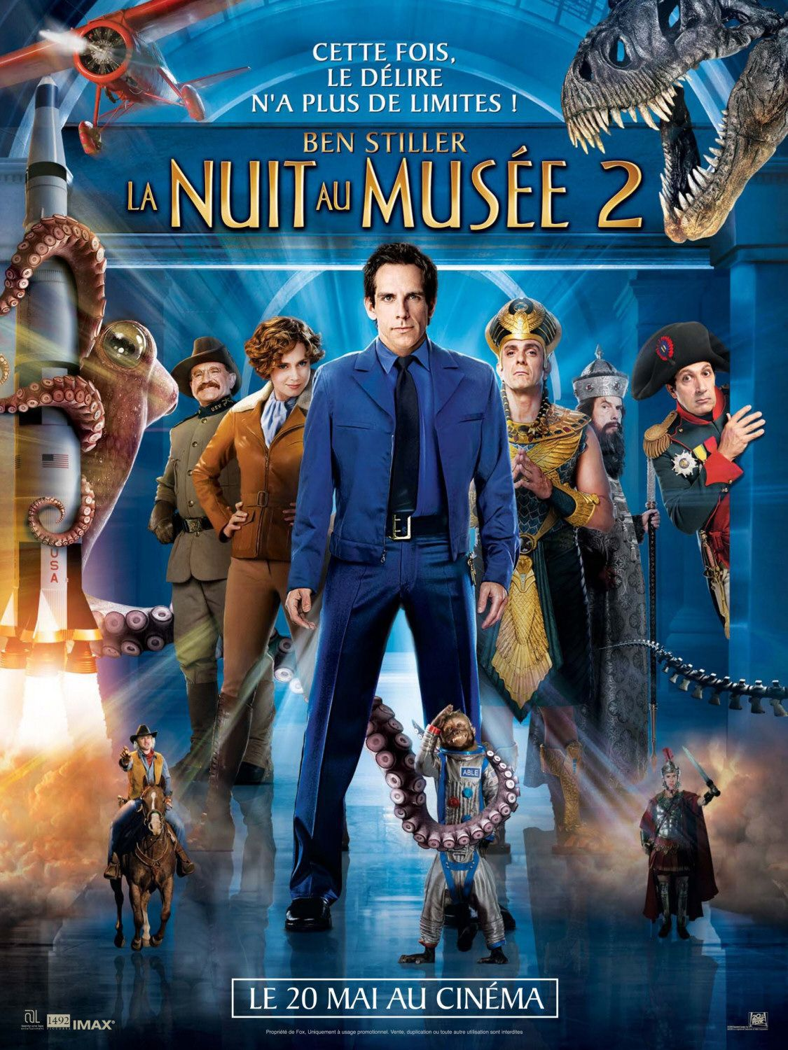 Film - Una Notte al Museo 2 - Smithsonian - Night at the Museum 2 - Battle of the Smithsonian