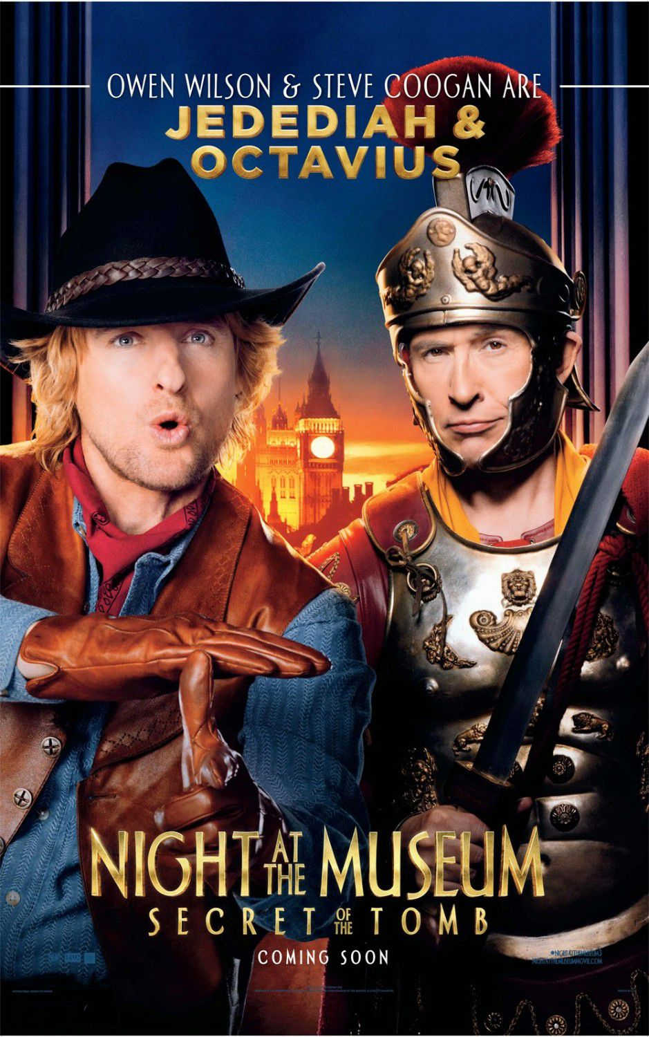 Una Notte al Museo 3 - Night at the Museum 3 - Secret of the Tomb - poster - Octavius (Steve Coogan) and Jebediah (Owen Wilson)