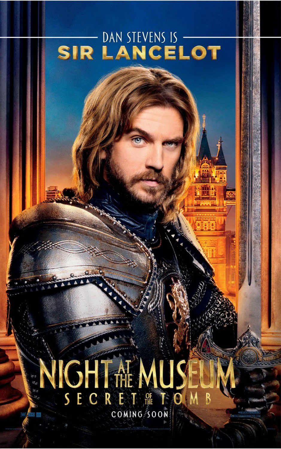 Una Notte al Museo 3 - Night at the Museum 3 - Secret of the Tomb - poster - Sir Lancelot (Dan Stevens)