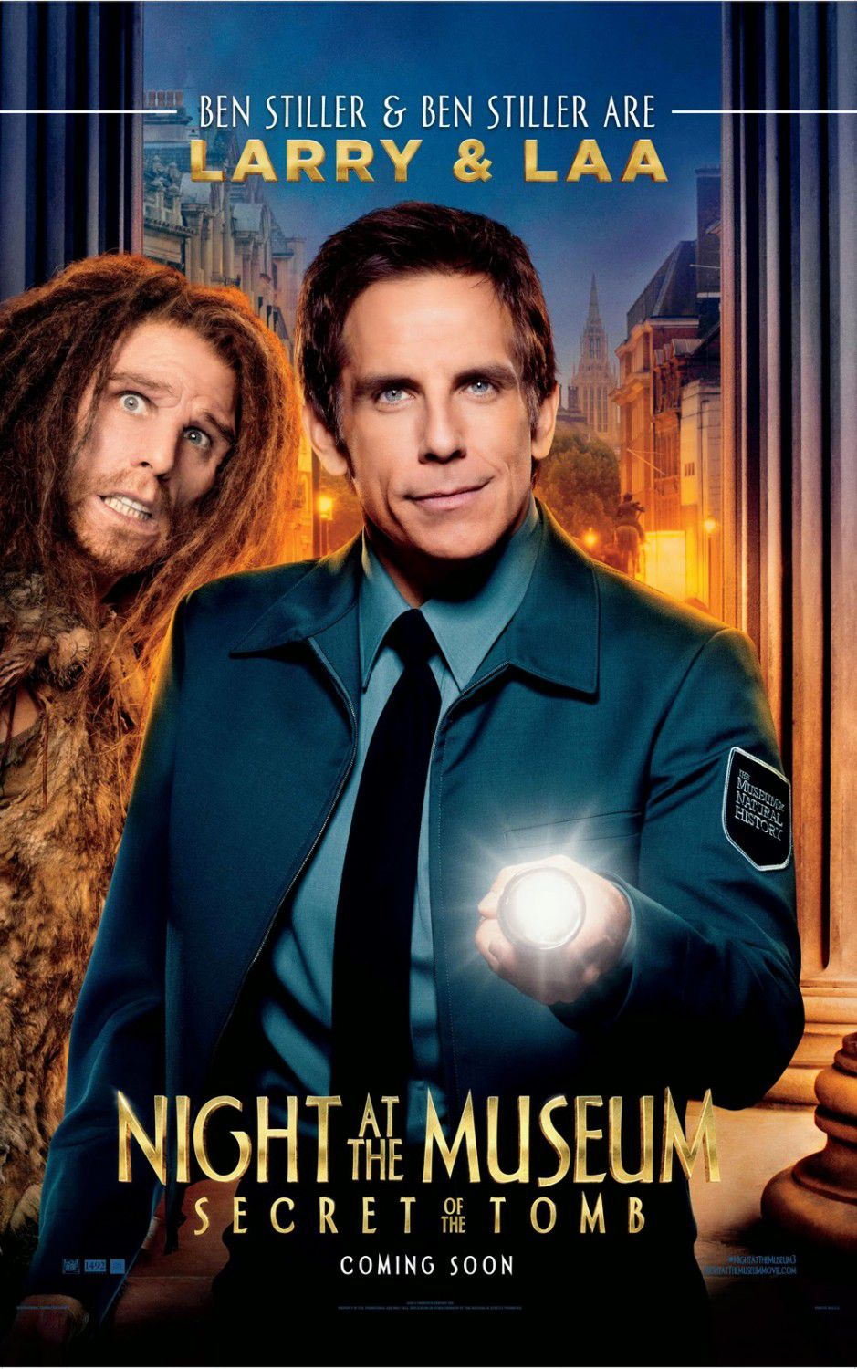 Una Notte al Museo 3 - Night at the Museum 3 - Secret of the Tomb - poster - Ben Stiller - Larry and Laa