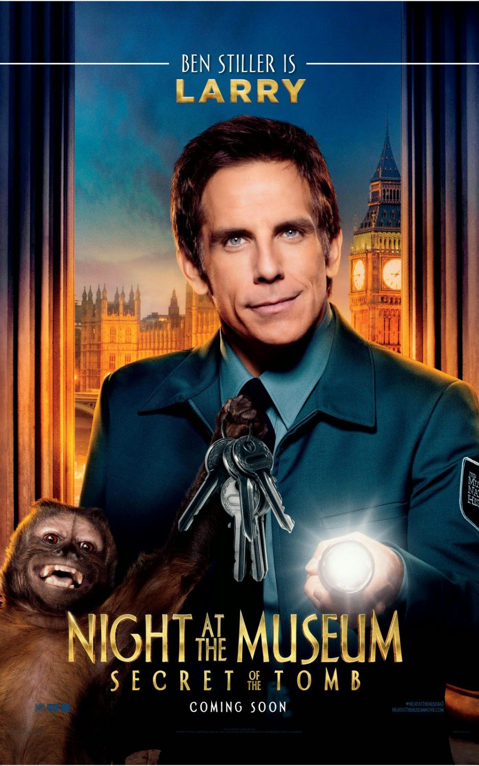 Una Notte al Museo 3 - Night at the Museum 3 - Secret of the Tomb - poster - Larry (Ben Stiller)