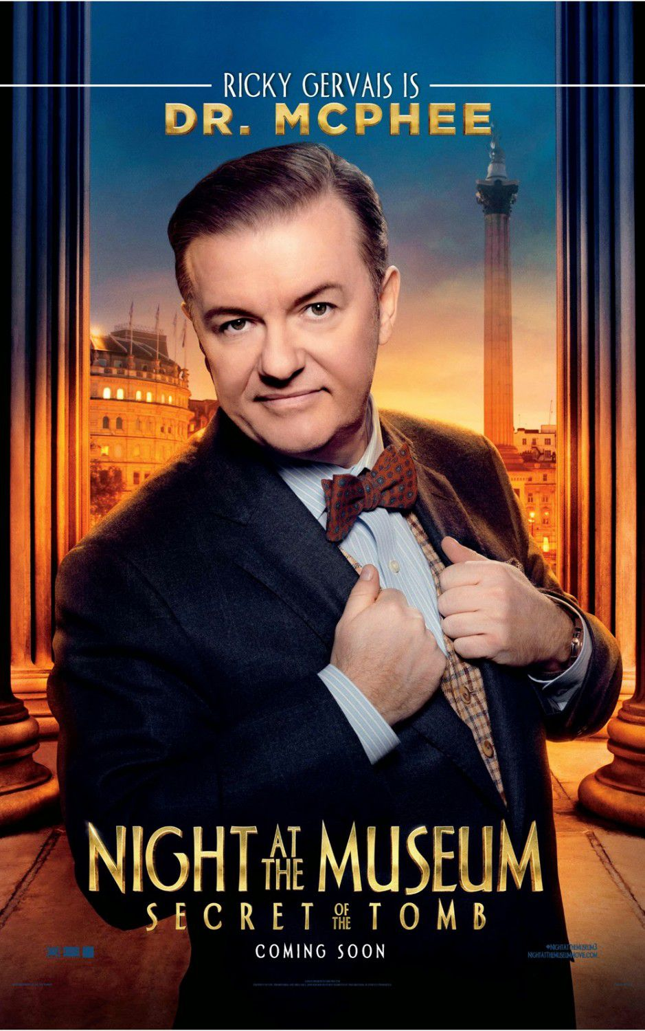 Una Notte al Museo 3 - Night at the Museum 3 - Secret of the Tomb - poster - Dr. McPhee (Ricky Gervais)
