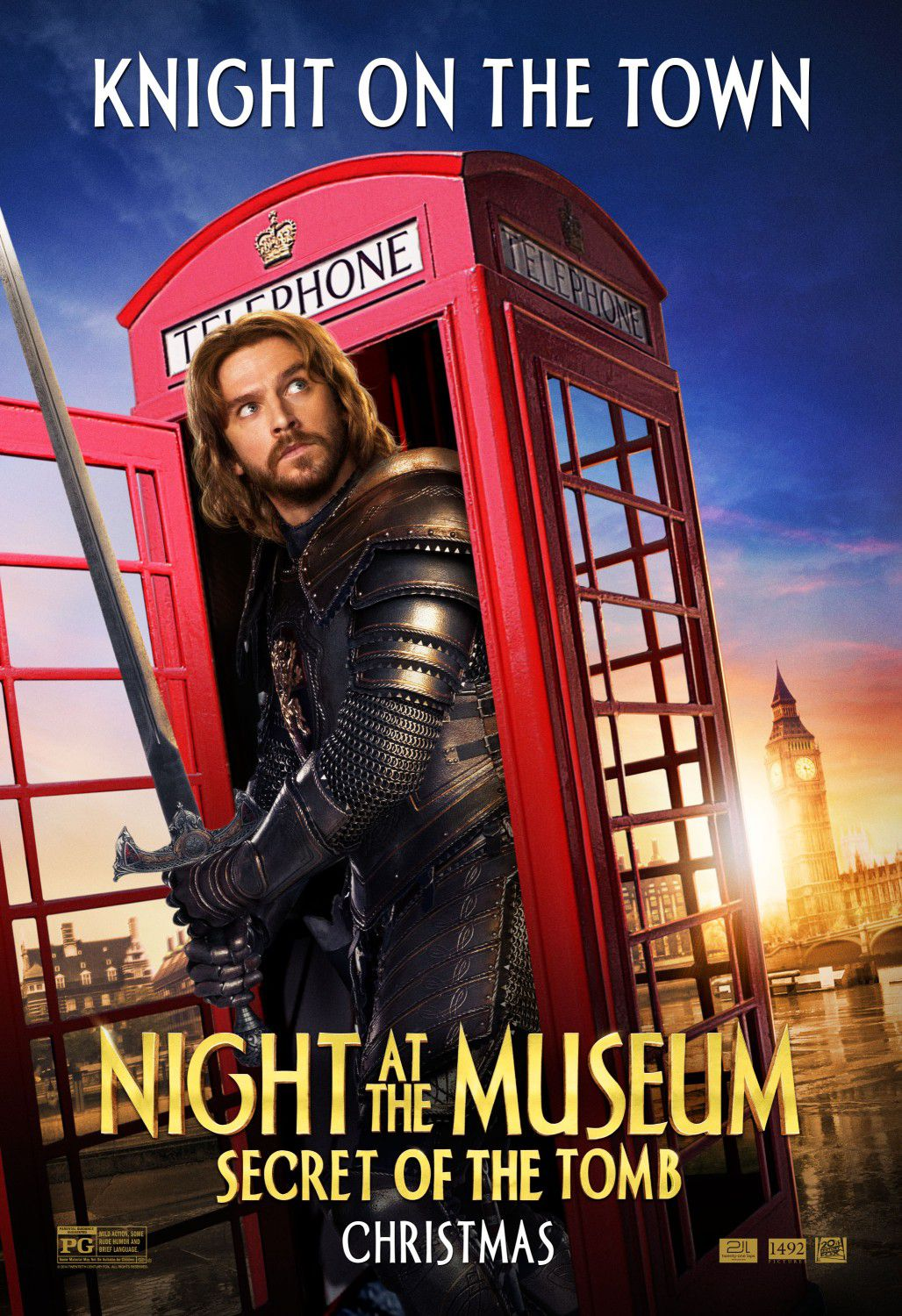 Una Notte al Museo 3 - Night at the Museum 3 - Secret of the Tomb - poster - Knight on the Town - Dan Stevens