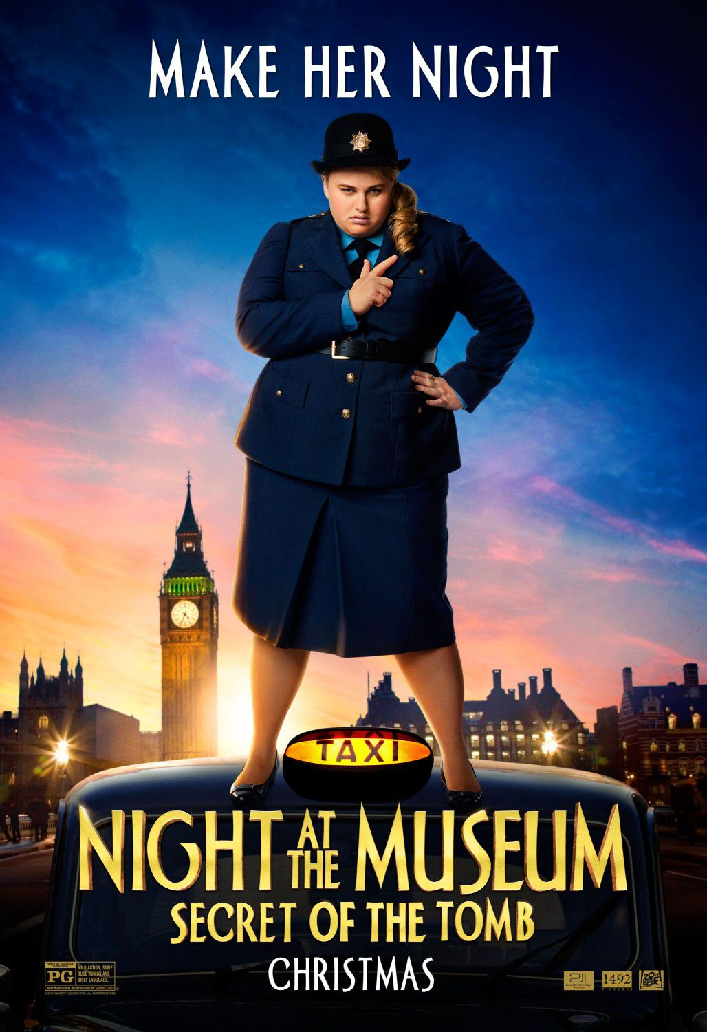 Una Notte al Museo 3 - Night at the Museum 3 - Secret of the Tomb - poster - make her night - Tilly (Rebel Wilson)