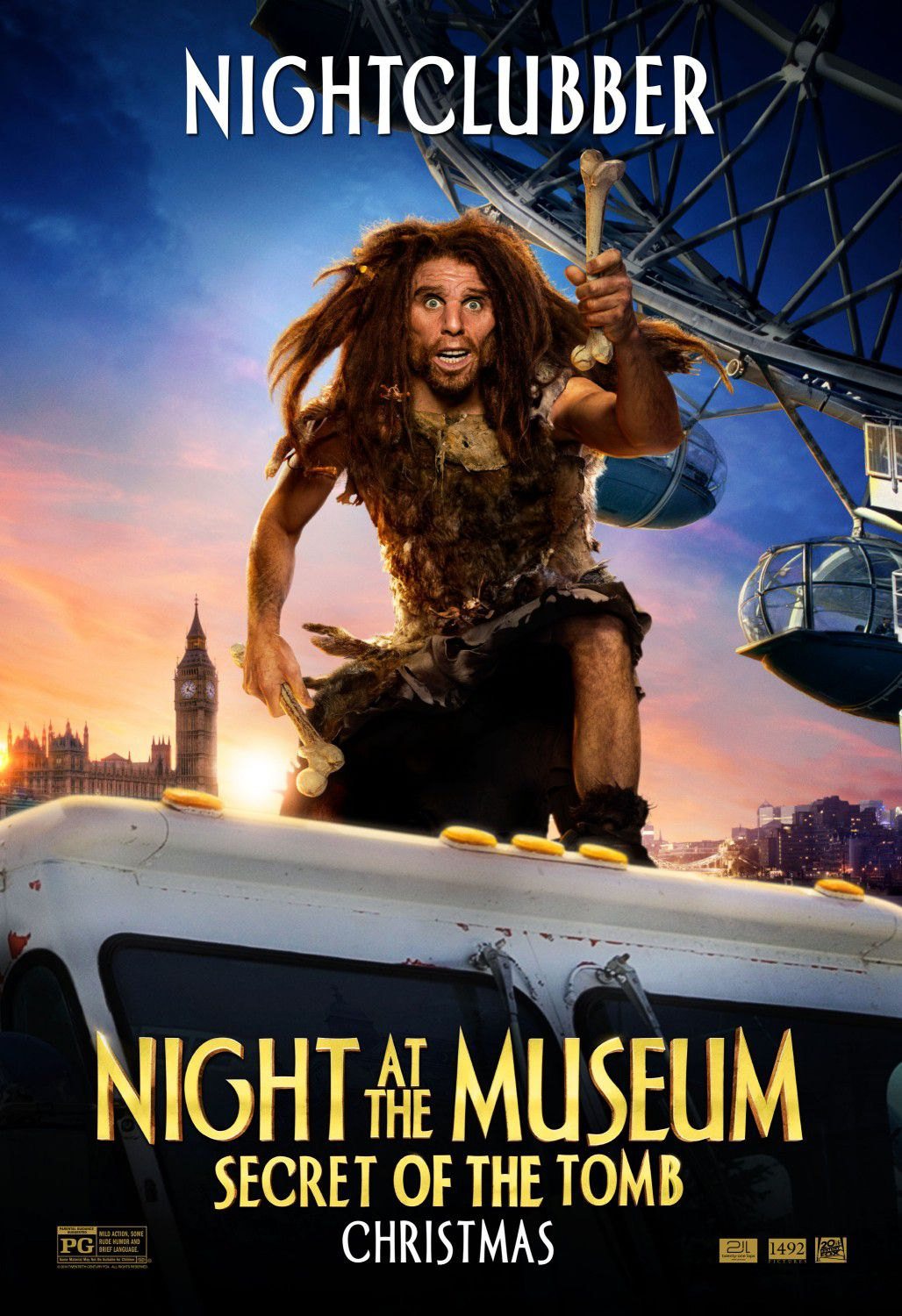 Una Notte al Museo 3 - Night at the Museum 3 - Secret of the Tomb - poster - night clubber - Ben Stiller