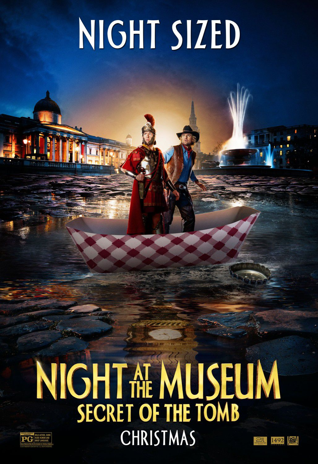 Una Notte al Museo 3 - Night at the Museum 3 - Secret of the Tomb - poster - night sized - Owen Wilson