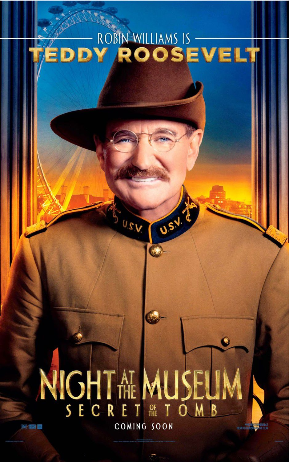 Una Notte al Museo 3 - Night at the Museum 3 - Secret of the Tomb - poster - Teddy Roosevelt (Robin Williams)