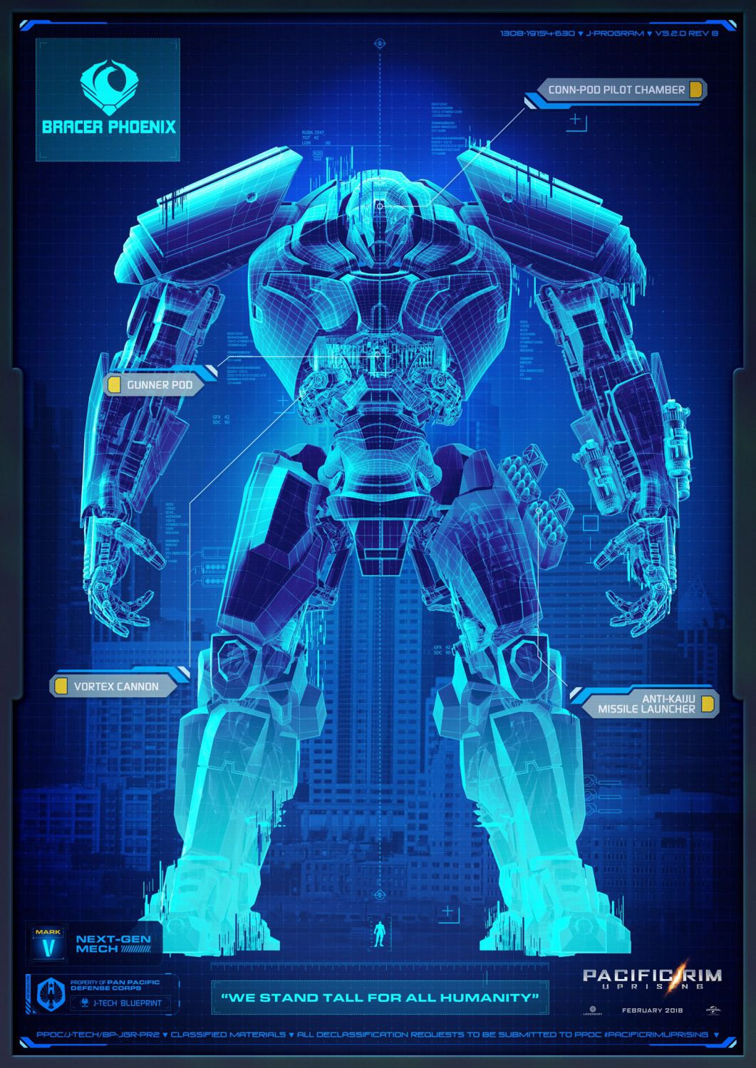 Pacific Rim Uprising - Bracer Phoenix - Next Generation Mech Mark IV - Pan Pacific Defense Corps