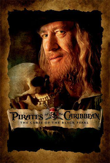 Pirati dei Caraibi - La Maledizione della prima Luna - Pirates of the Caribbean: The Curse of the Black Pearl - poster - Geoffrey Rush