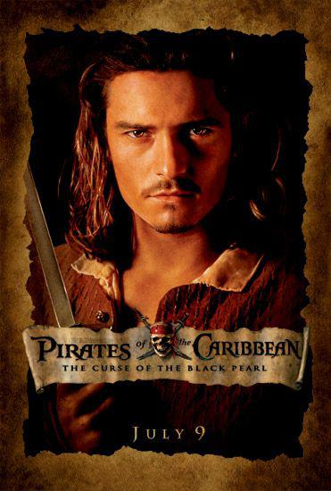 Pirati dei Caraibi - La Maledizione della prima Luna - Pirates of the Caribbean: The Curse of the Black Pearl - poster - Orlando Bloom