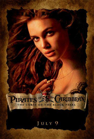 Pirati dei Caraibi - La Maledizione della prima Luna - Pirates of the Caribbean: The Curse of the Black Pearl - poster - Keira Knightley
