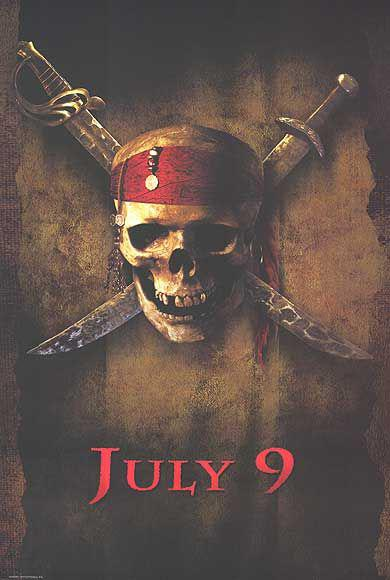 Pirati dei Caraibi - La Maledizione della prima Luna - Pirates of the Caribbean: The Curse of the Black Pearl - poster - Skull Teschio