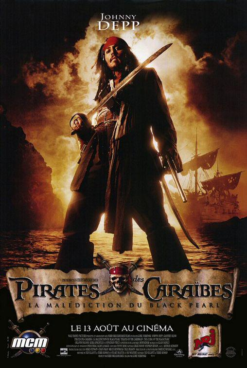 Pirati dei Caraibi - La Maledizione della prima Luna - Pirates of the Caribbean: The Curse of the Black Pearl - poster - Johnny Depp