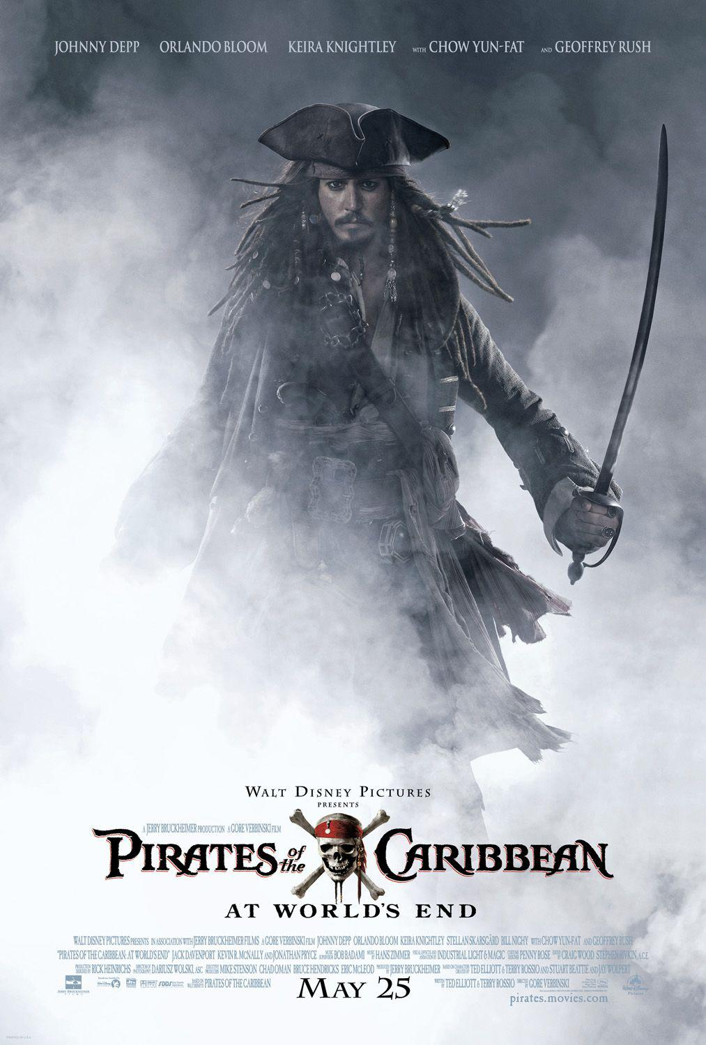 Film - Pirati dei Caraibi 3 aii Confini del Mondo - Pirates of the Caribbean at Worlds End - poster  - Johnny Depp