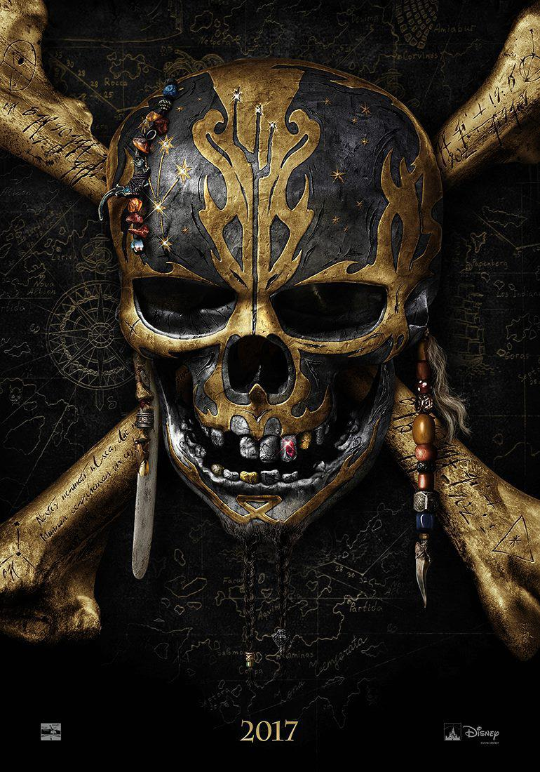Pirates of the Caribbean 5 Dead Men Tell no Tales - Pirati dei Caraibi la vendetta di Salazar - Skull poster