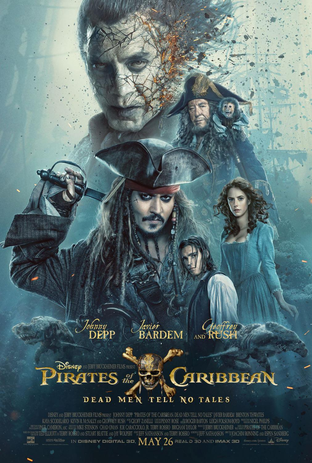 Pirates of the Caribbean 5 Dead Men Tell no Tales - Pirati dei Caraibi la vendetta di Salazar - poster - Javier Bardem - Johnny Depp