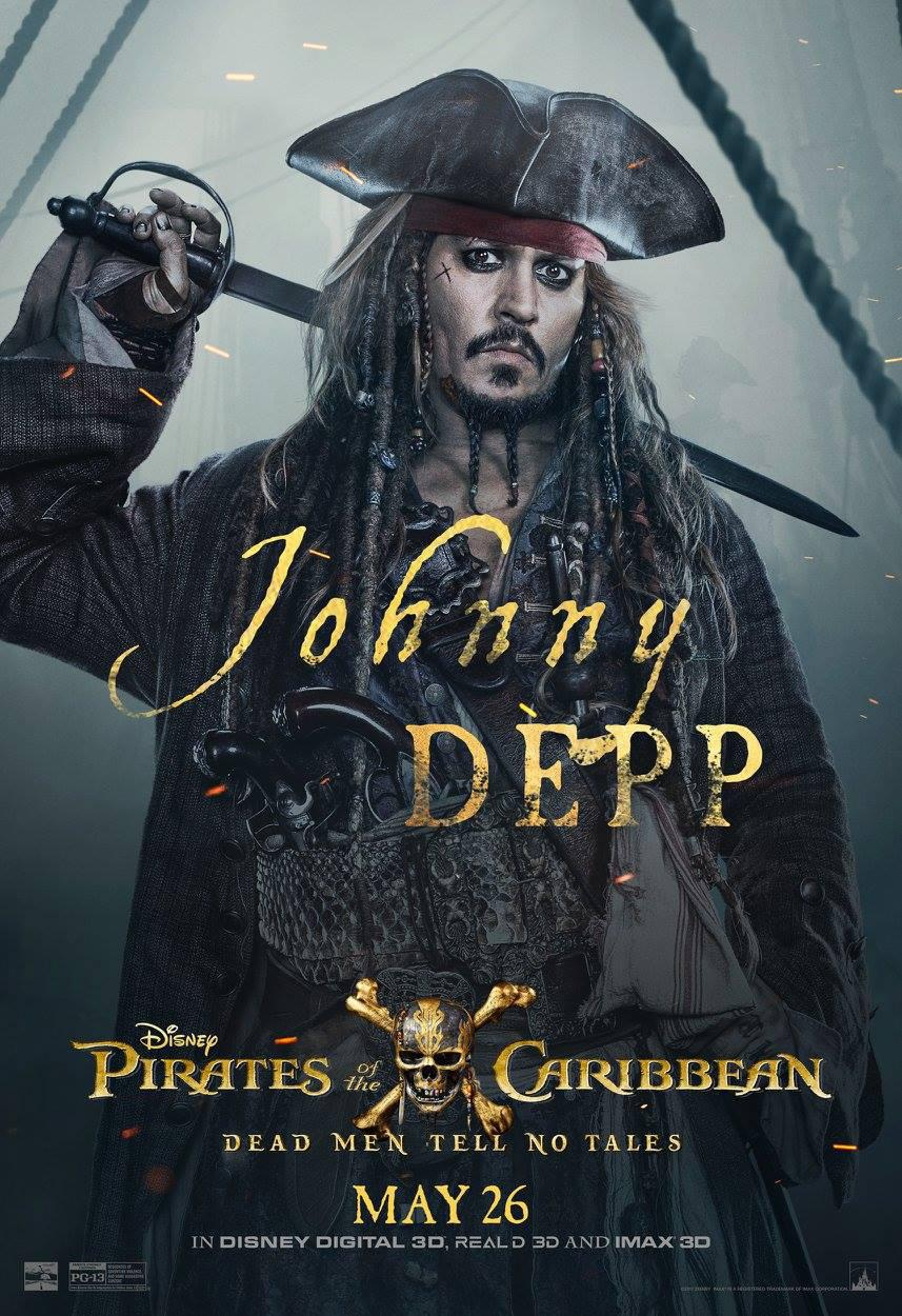 Pirates of the Caribbean 5 Dead Men Tell no Tales - Pirati dei Caraibi la vendetta di Salazar - poster - Johnny Depp