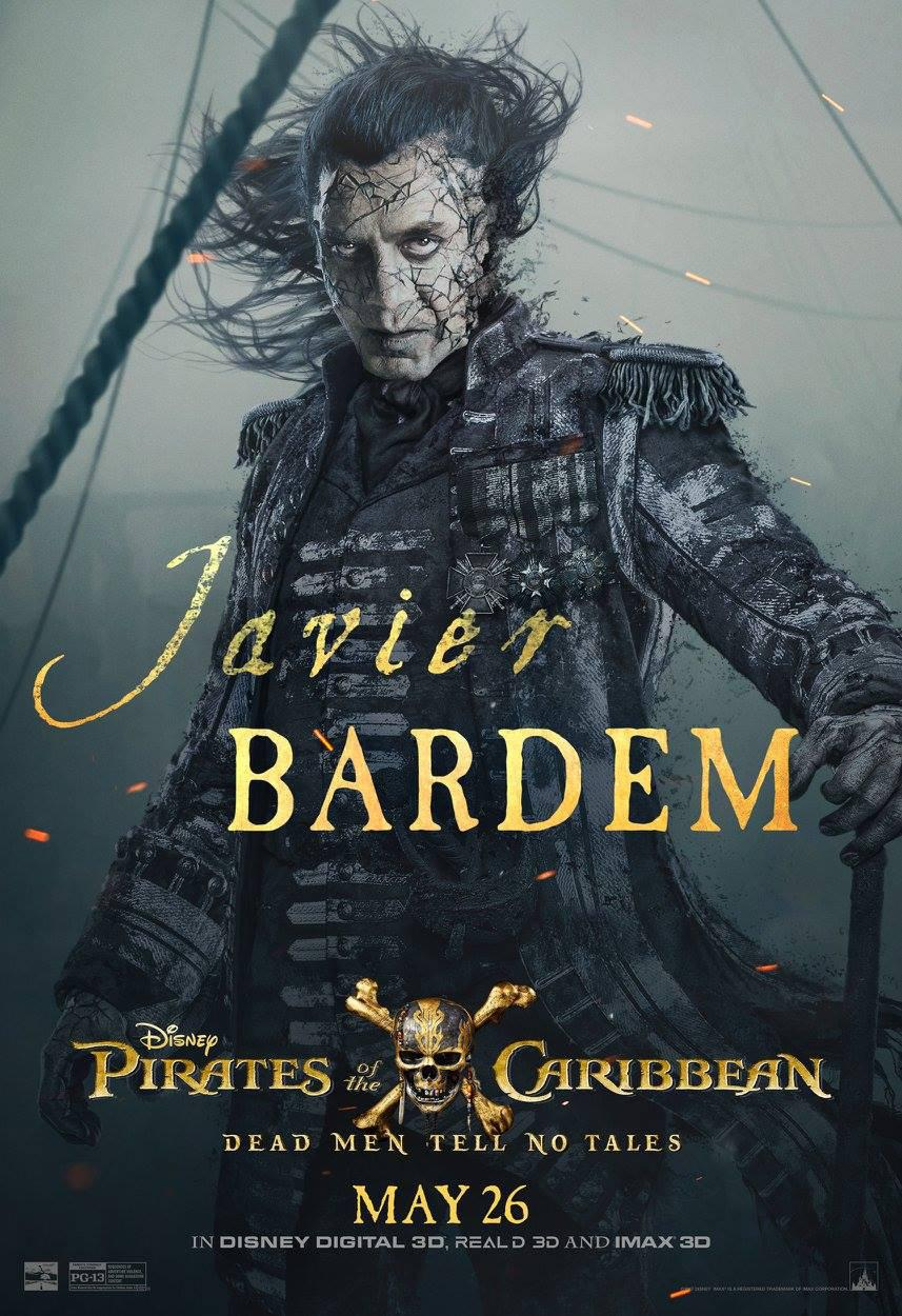 Pirates of the Caribbean 5 Dead Men Tell no Tales - Pirati dei Caraibi la vendetta di Salazar - poster - Javier Bardem