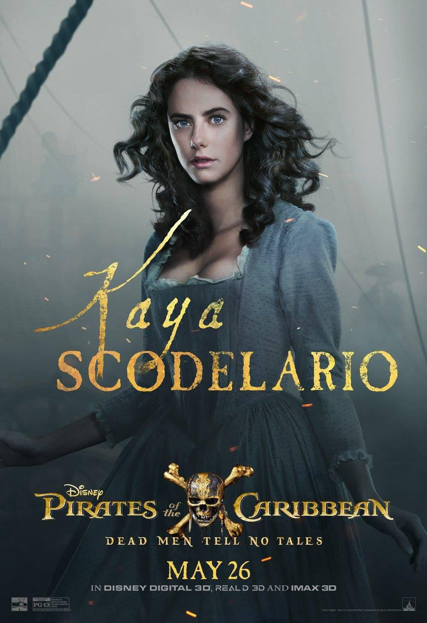 Pirates of the Caribbean 5 Dead Men Tell no Tales - Pirati dei Caraibi la vendetta di Salazar - poster - Kaya Scodelario