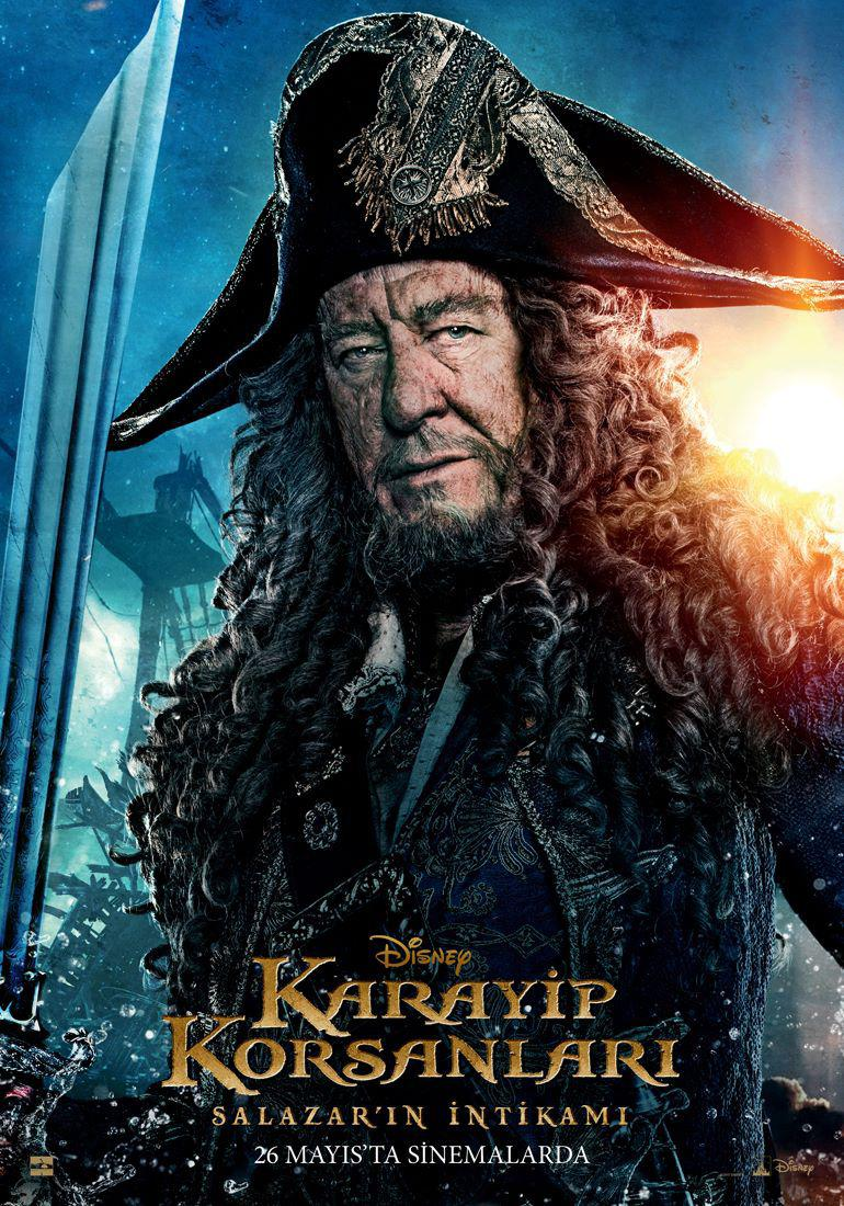 Pirates of the Caribbean 5 Dead Men Tell no Tales - Pirati dei Caraibi la vendetta di Salazar - poster - Geoffrey Rush