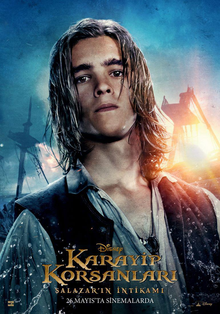Pirates of the Caribbean 5 Dead Men Tell no Tales - Pirati dei Caraibi la vendetta di Salazar - poster - Brenton Thwaites