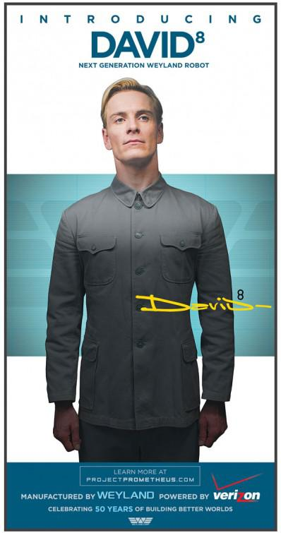 Prometheus - alien universe - film poster - introducing David 8 next generation Weyland Robot