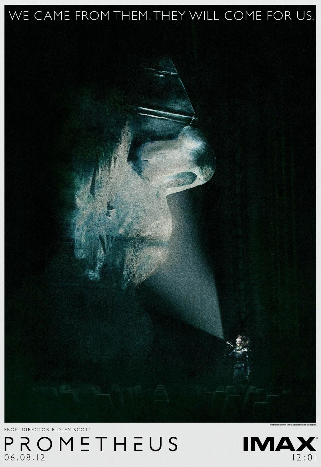 Prometheus - alien universe - film poster  - We came from them. They will come for us