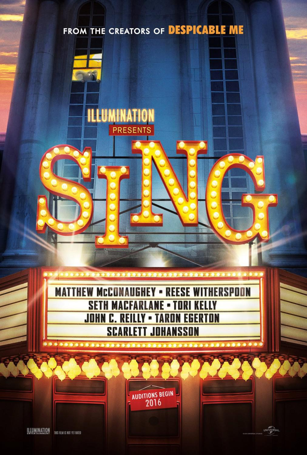 Sing - animated film - talent - poster