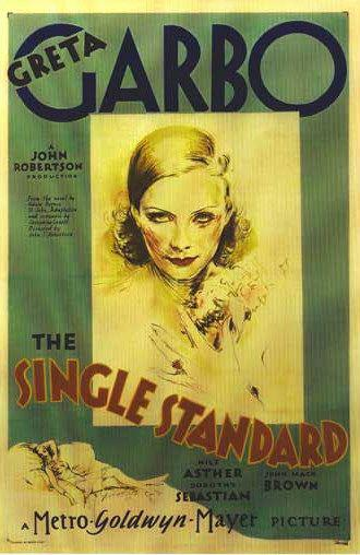 Single standard - Greta Garbo - old poster