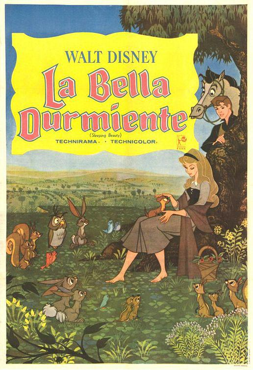 La Bella Addormentata nel Bosco - Sleeping Beauty - old poster